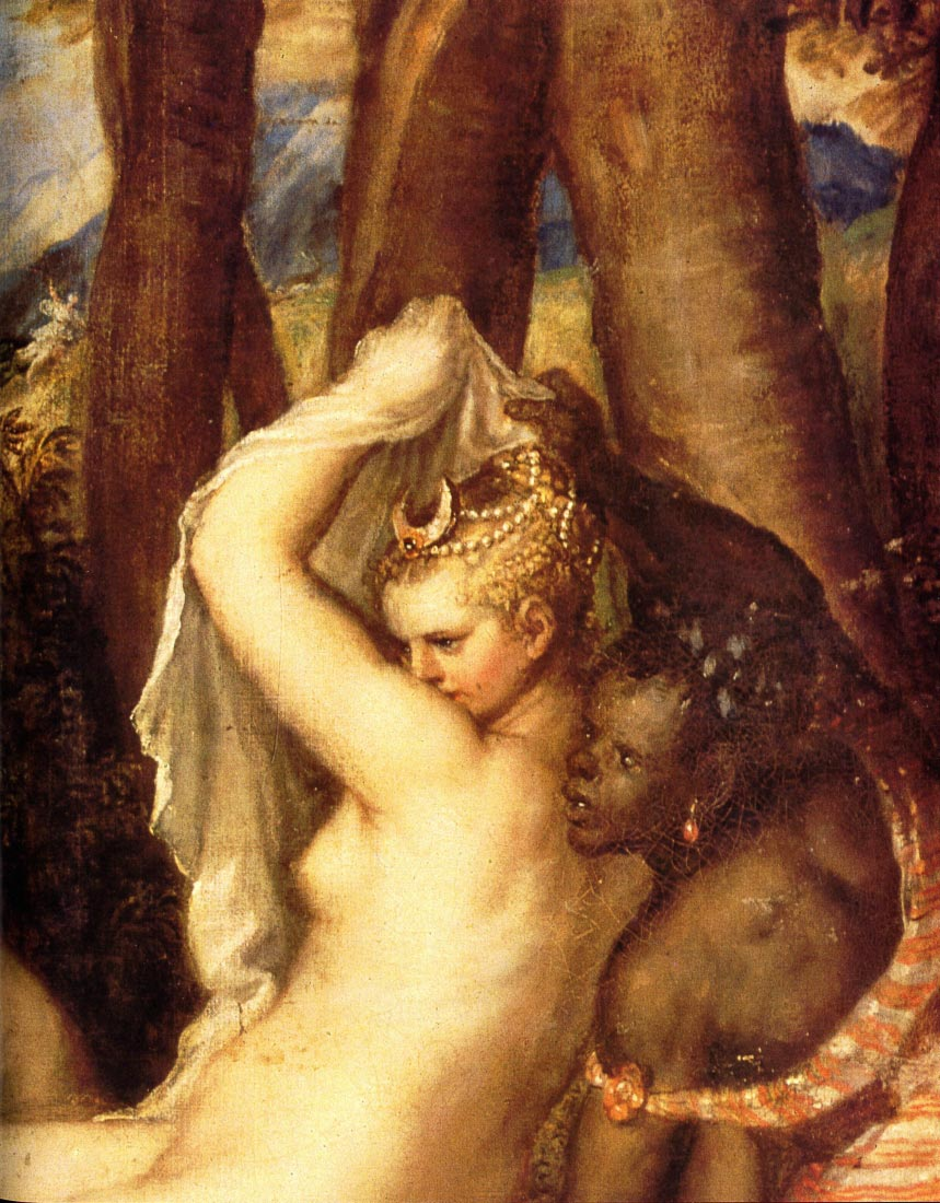 Diana and Aktaon detail - Titian