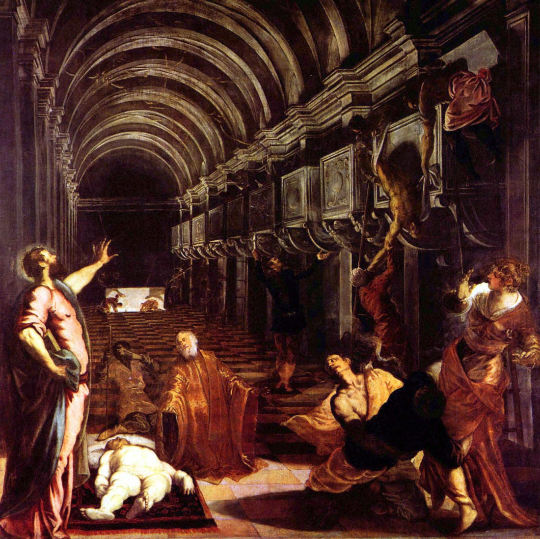 Discovery of the corpse of St. Mark - Tintoretto