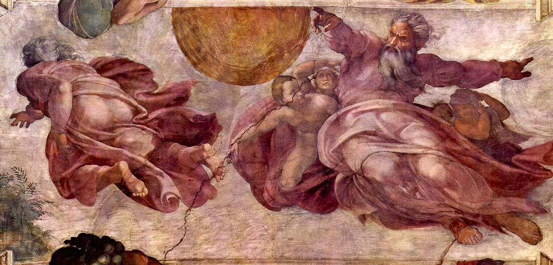 Divorce of light and darkness - Michelangelo