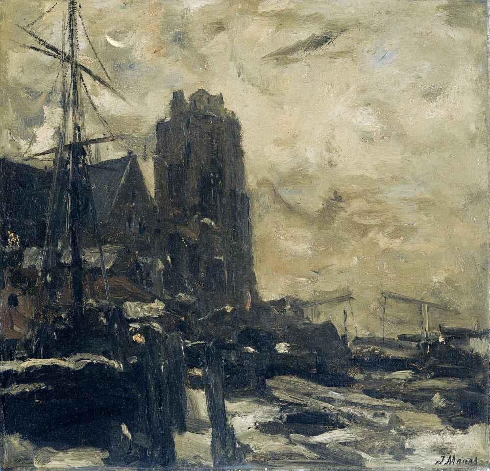 Dordrecht bij avond - Matthijs Maris
