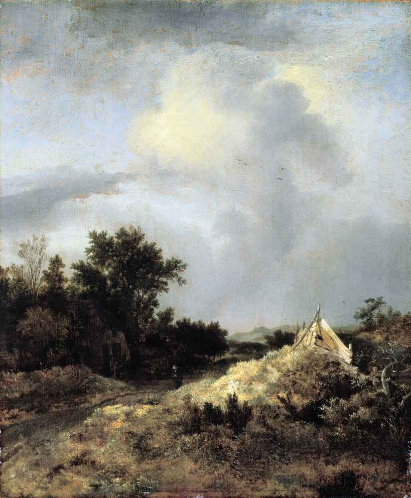Dune Landscape with Fence - Jacob van Ruisdael
