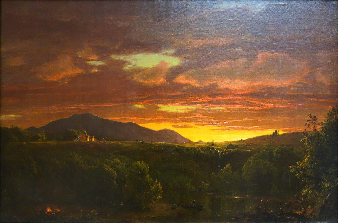 Dusk (sunset) - Frederick Edwin Church