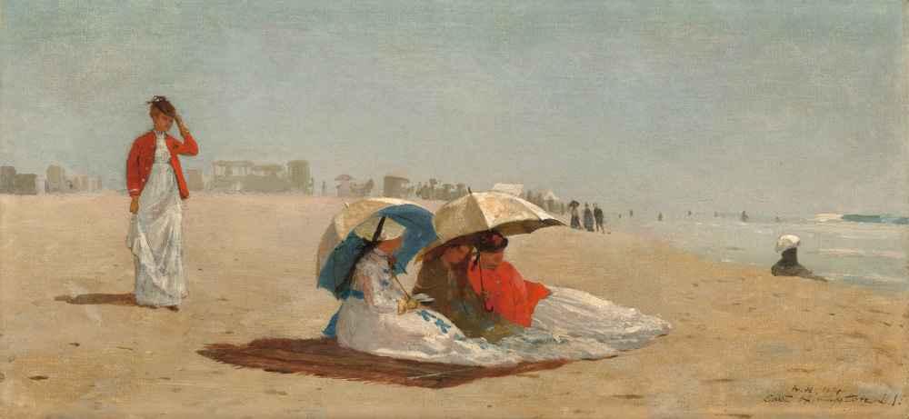 East Hampton Beach, Long Island - Winslow Homer