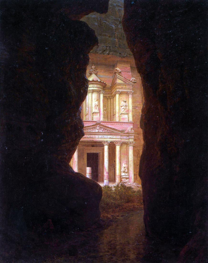 El Khasne, Petra - Frederick Edwin Church