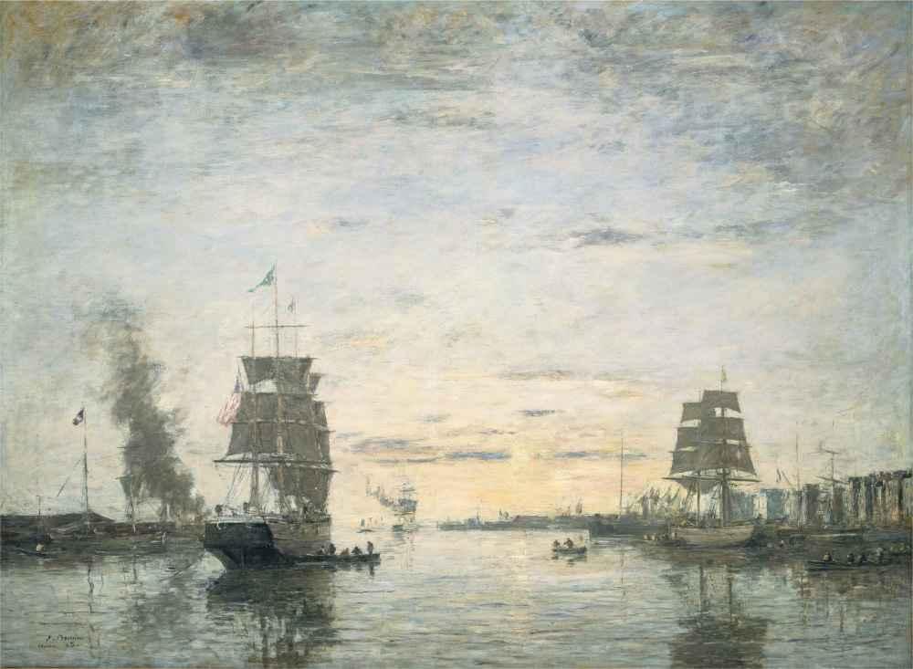 Entrance to the Harbor, Le Havre - Eugene Boudin