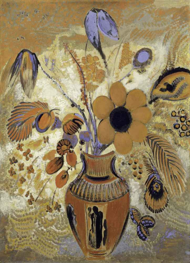Etruscan Vase with Flowers - Odilon Redon