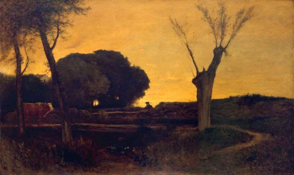 Evening at Medfield, Massachusetts - George Inness