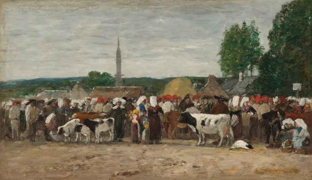 Fair in Brittany - Eugene Boudin
