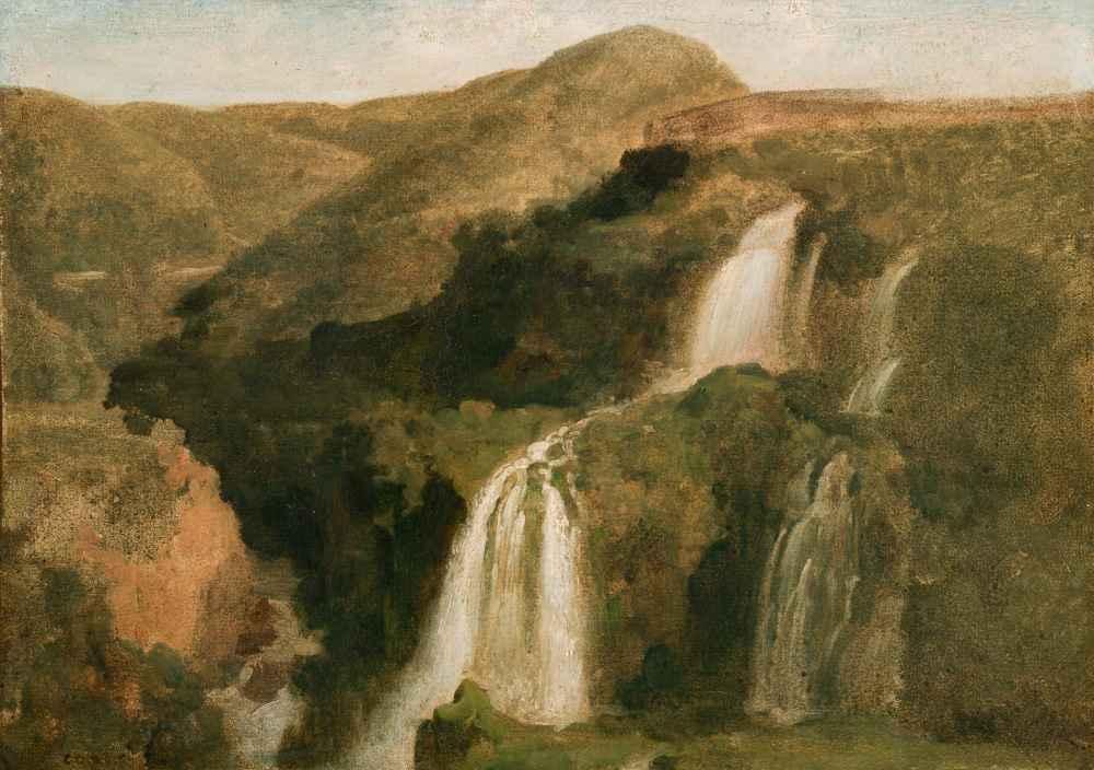 Falls of Tivoli - Jean Baptiste Camille Corot