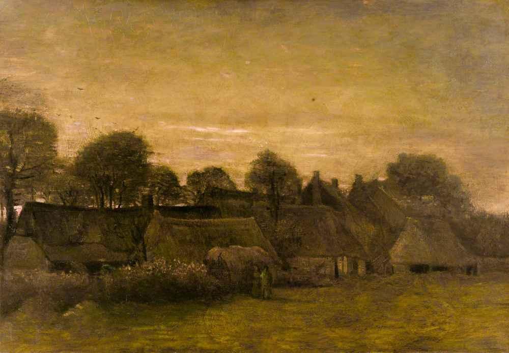 Farming Village at Twilight - Vincent van Gogh