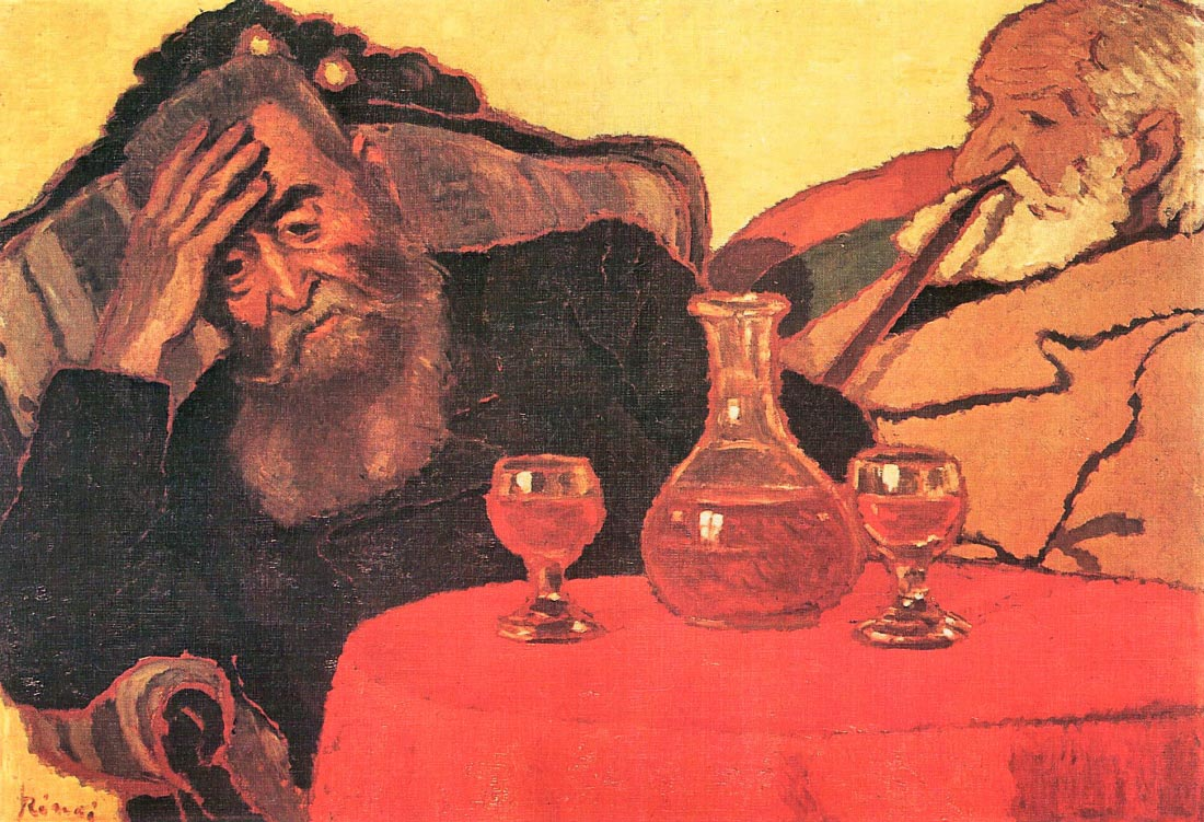 Father and uncle with the red wine - Joseph Rippl-Ronai