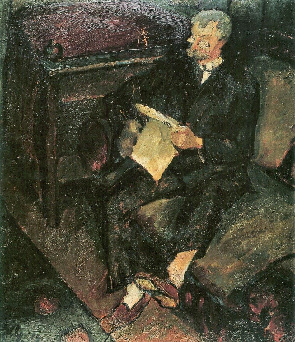 Father reading - Walter Gramatte