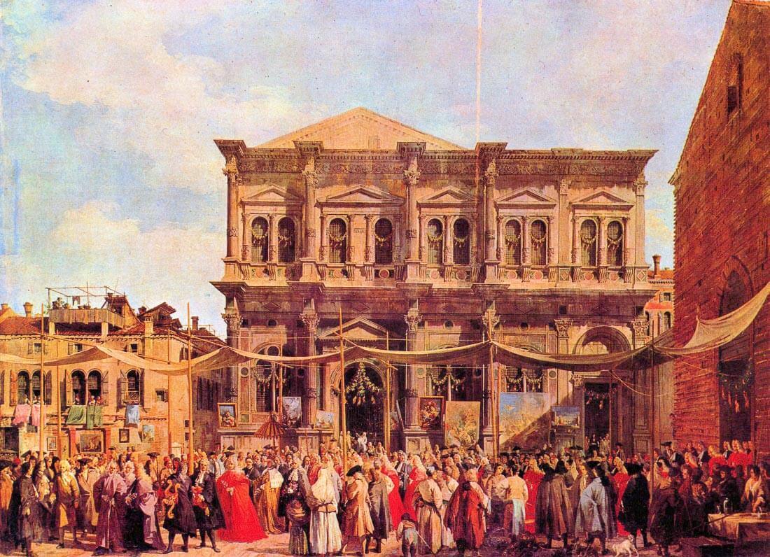Festival in San Rocco - Canaletto