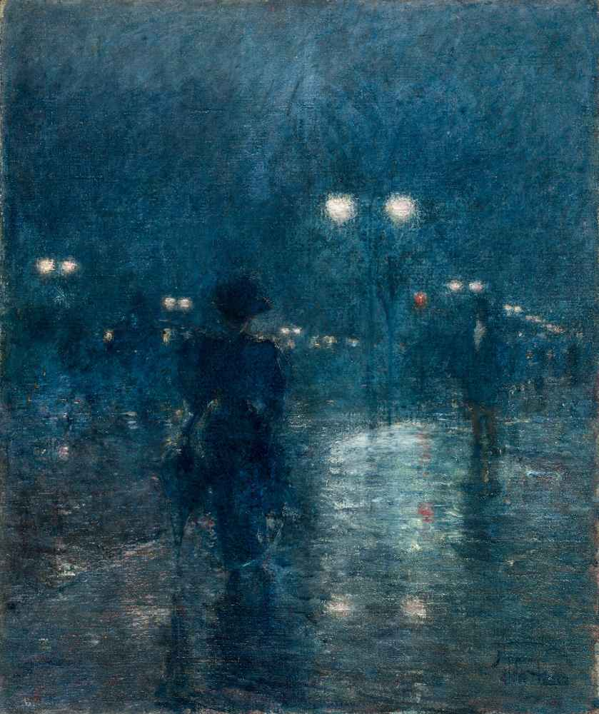 Fifth Avenue Nocturne - Childe Hassam