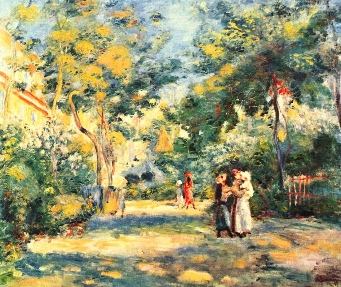 Figures in the garden - Renoir