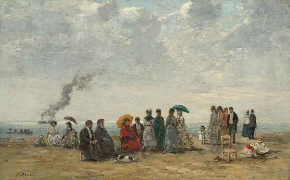Figures on the Beach - Eugene Boudin
