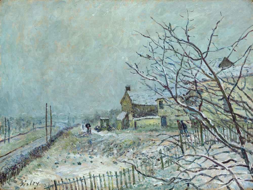 First Snow at Veneux-Nadon - Alfred Sisley