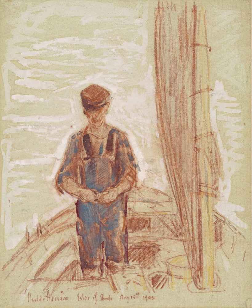 Fisherman, Isle of Shoals - Childe Hassam