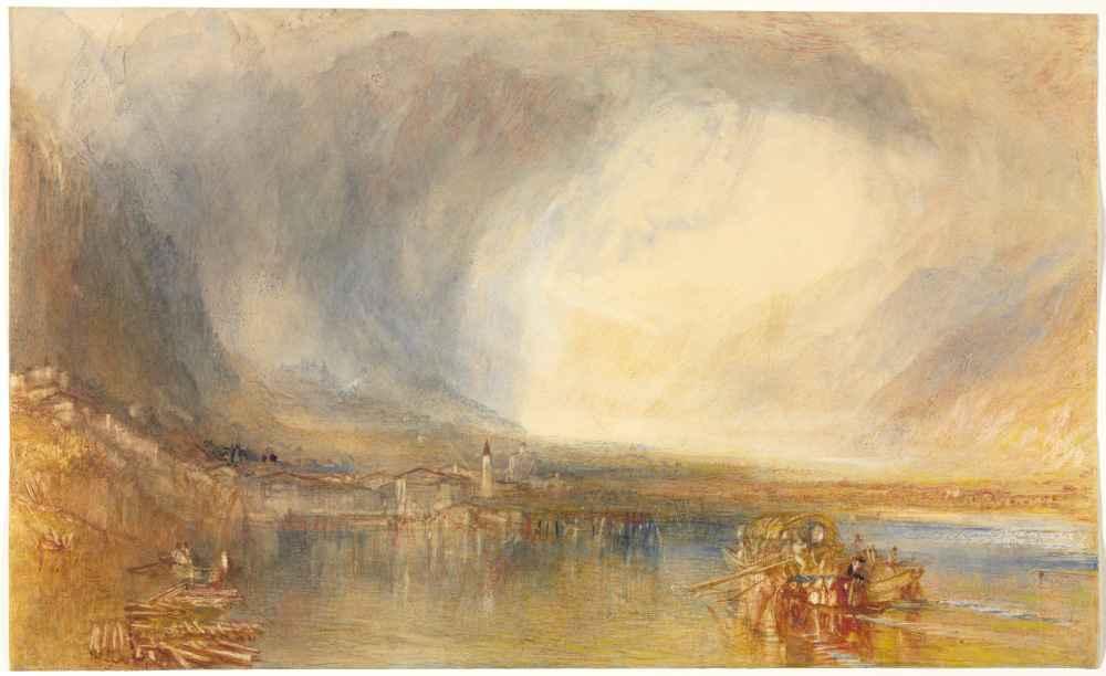 Flüelen, from the Lake of Lucerne - Joseph Mallord William Turner