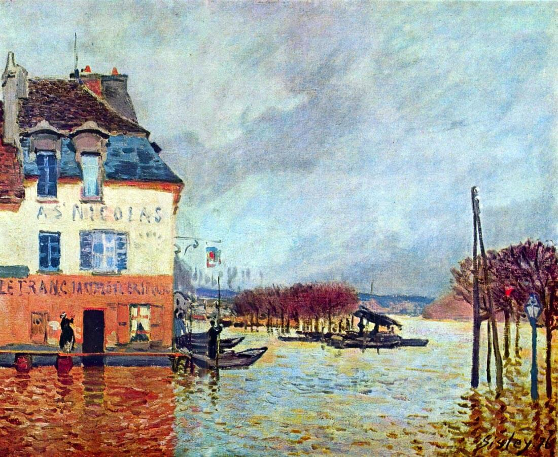 Flood at Port Manly - Sisley