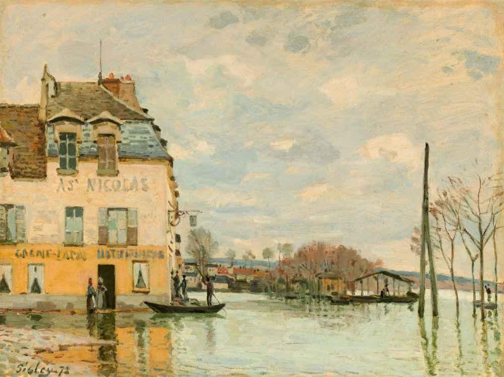 Flood at Port-Marly - Alfred Sisley