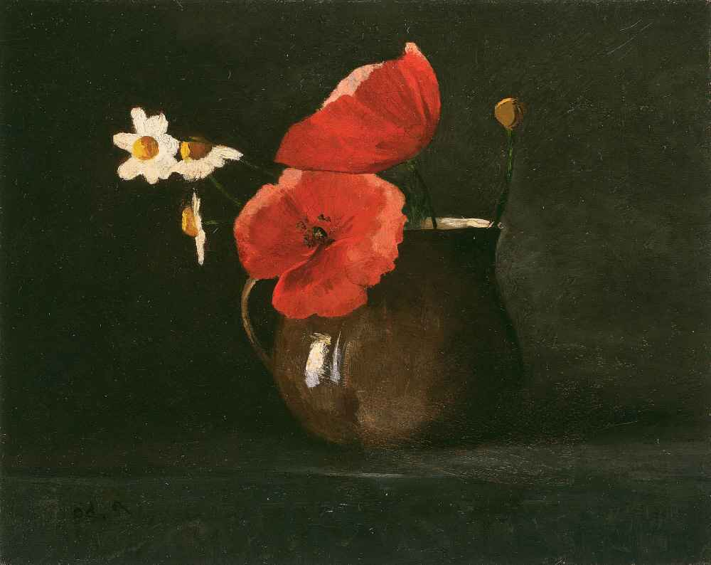 Flowers - Poppies and Daisies - Odilon Redon