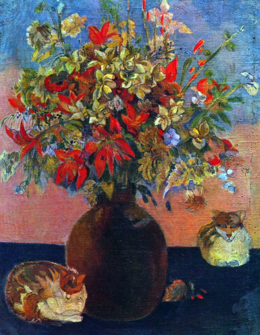 Flowers and Cats - Gauguin