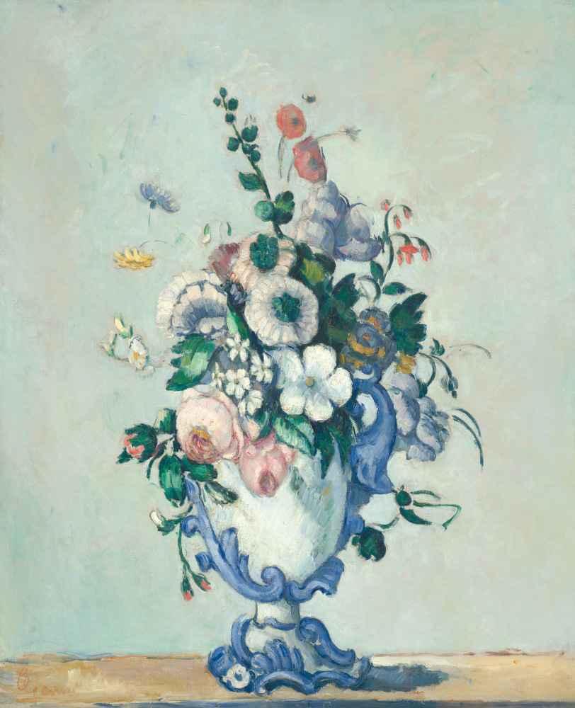 Flowers in a Rococo Vase - Paul Cezanne