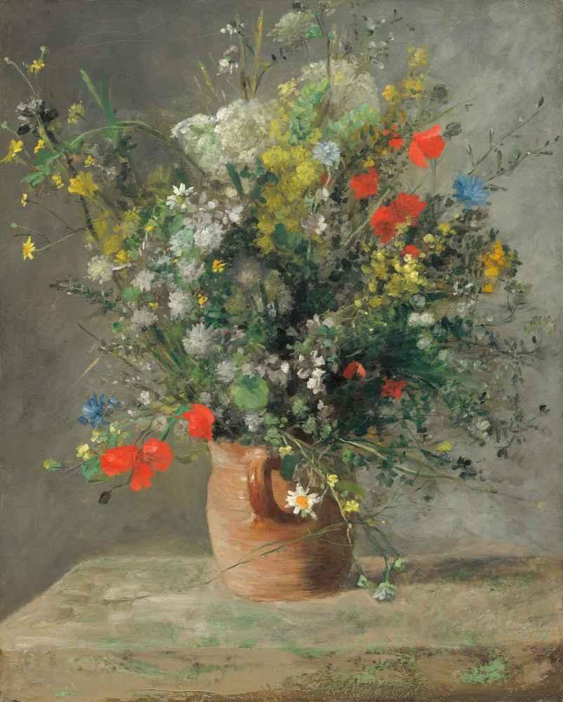 Flowers in a Vase 2 - Auguste Renoir