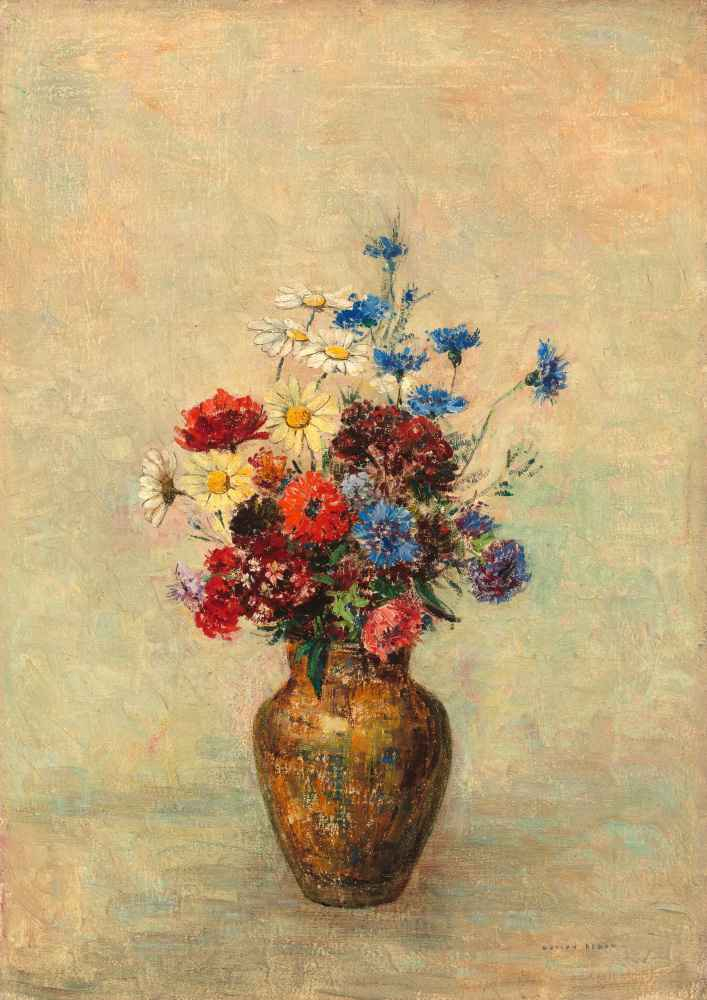 Flowers in a Vase - Odilon Redon