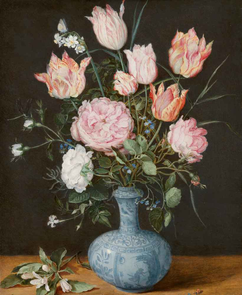 Flowers in a Wan-Li Vase - Pieter Bruegel (starszy)