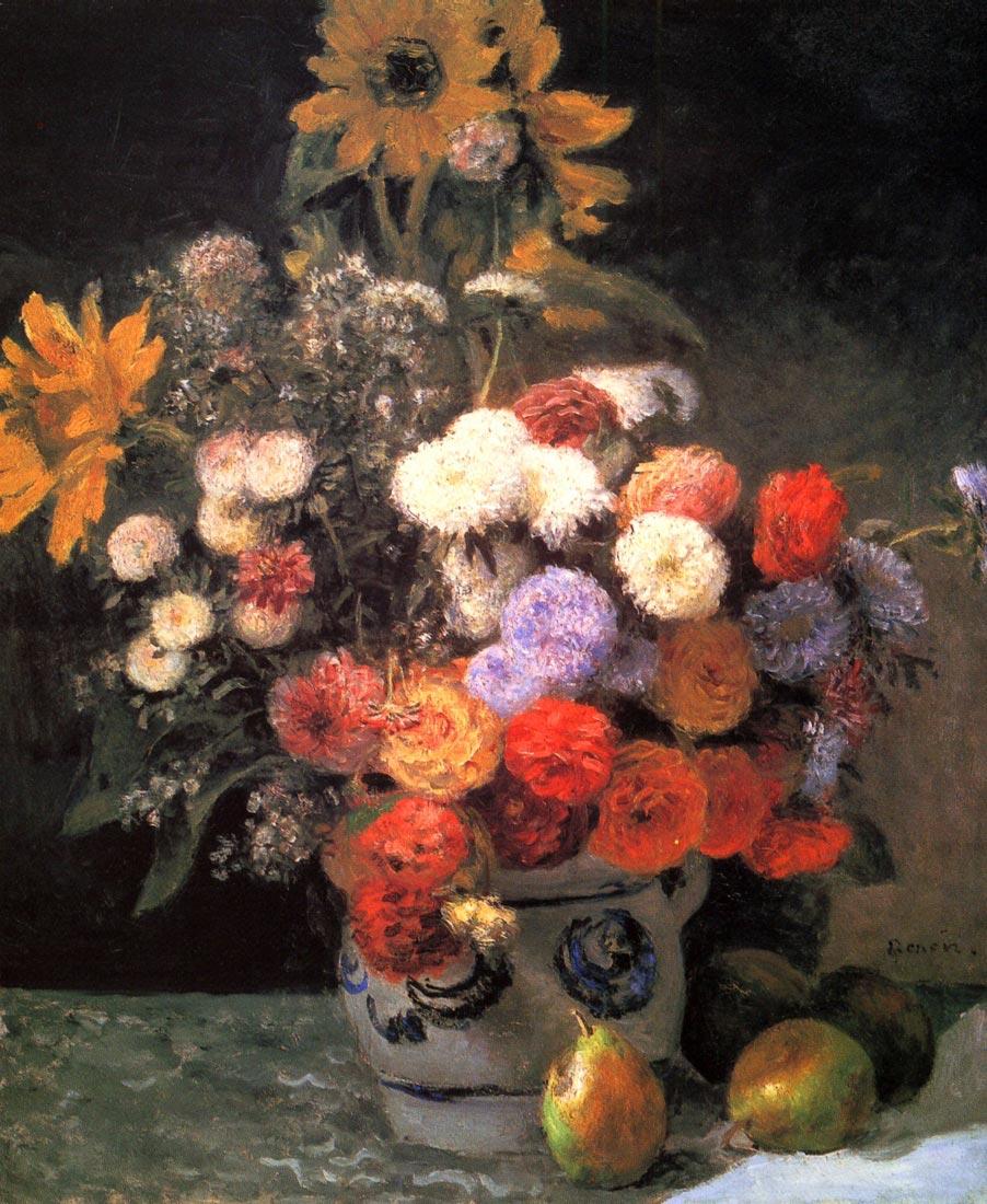 Flowers in a vase - Renoir