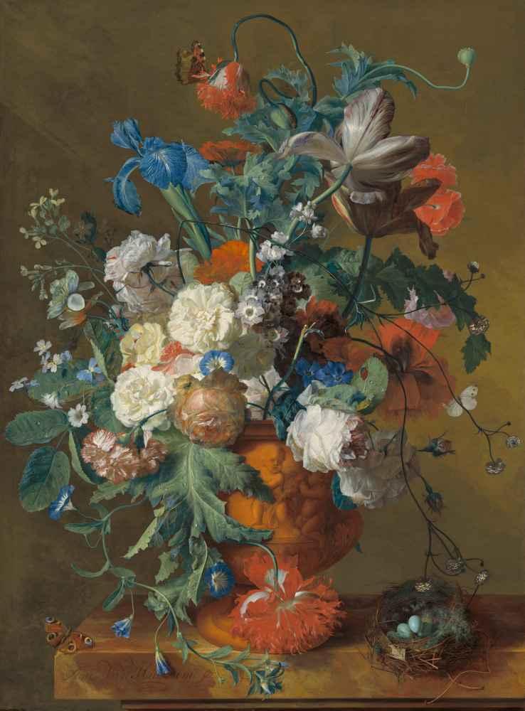 Flowers in an Urn - Jan van Huysum