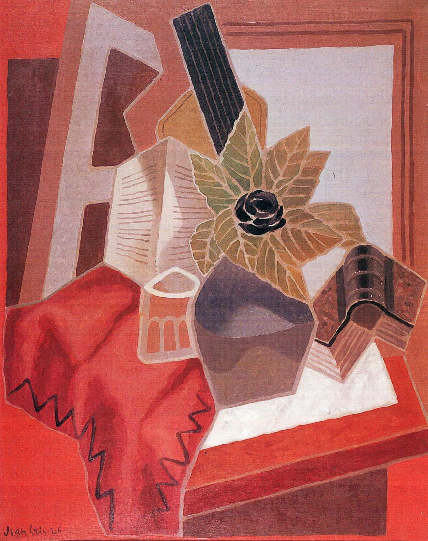 Flowers on the table - Juan Gris