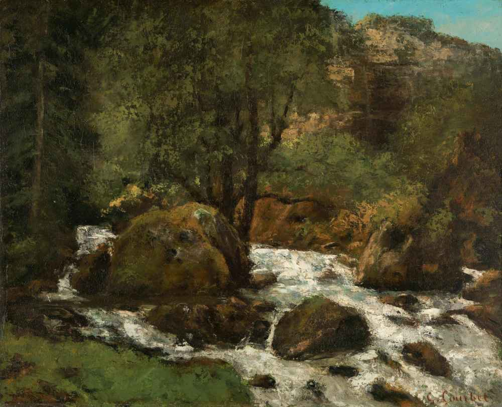Forest Brook, Jura - Gustave Courbet
