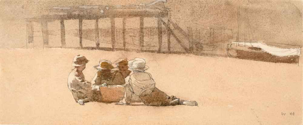 Four Boys on a Beach - Winslow Homer