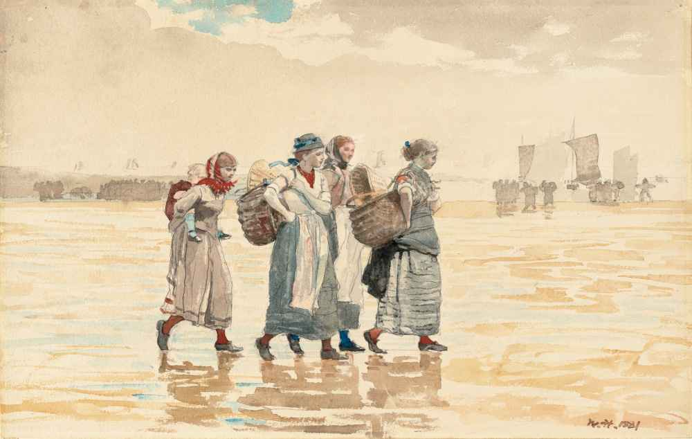 Four Fishwives on the Beach - Winslow Homer