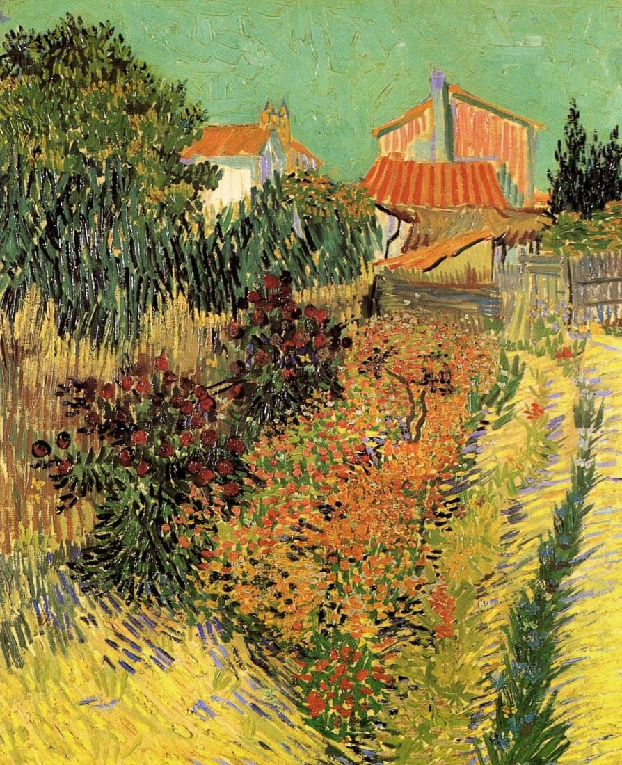 Garden Behind a House - Van Gogh