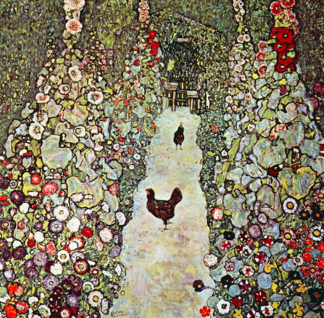 Garden Path with Chickens - Klimt