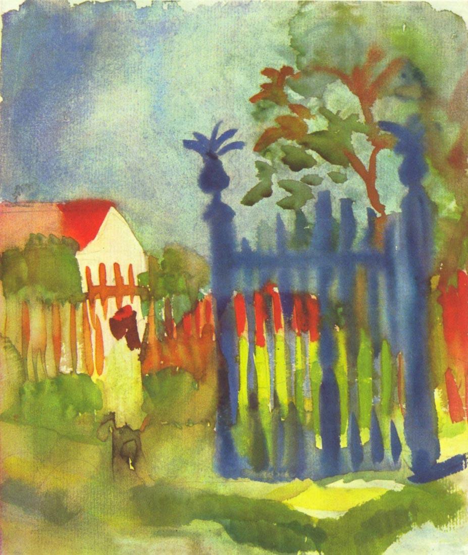 Garden gate - August Macke