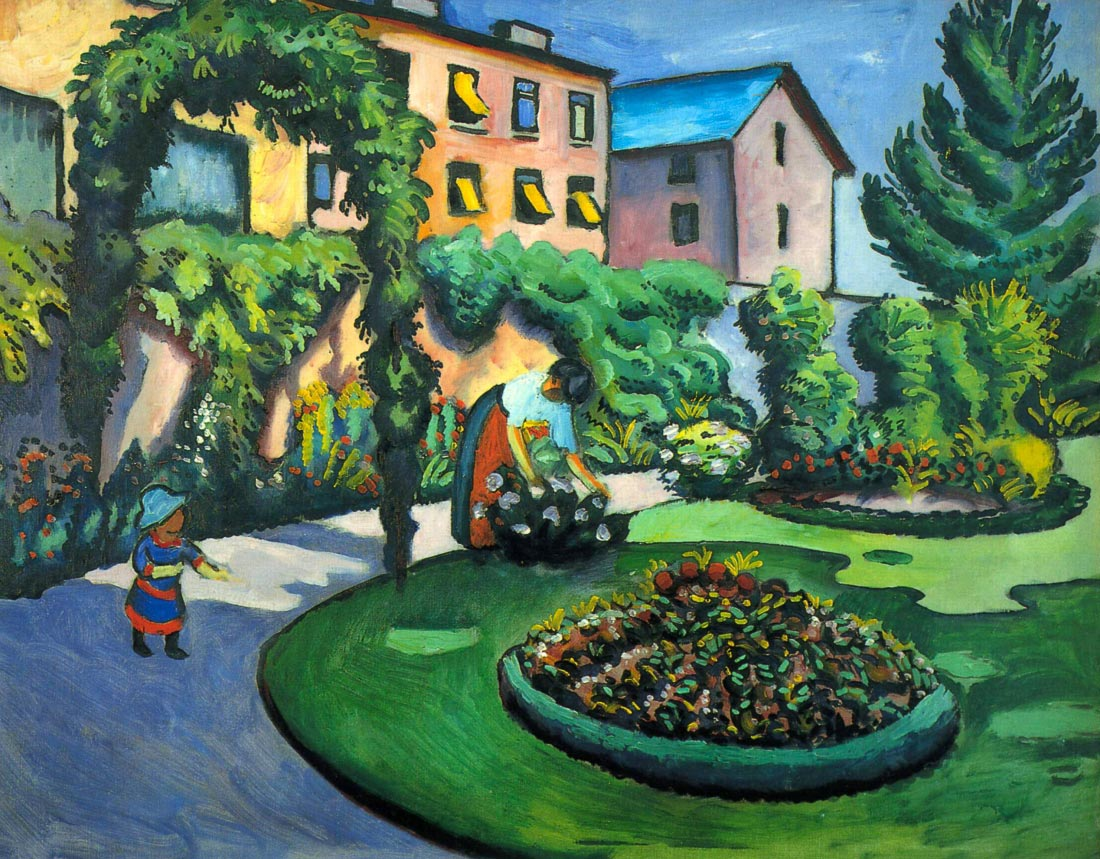 Garden image - August Macke