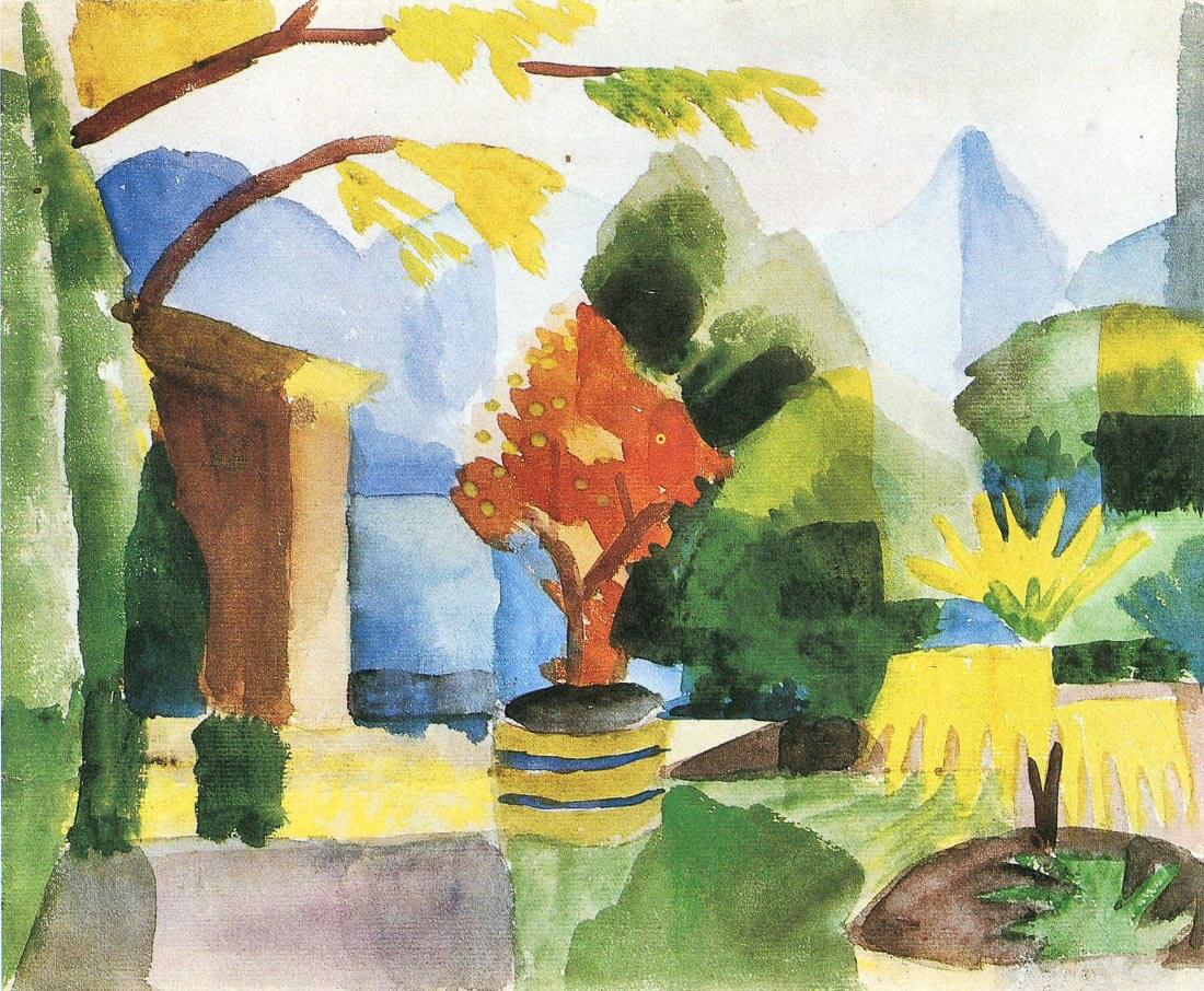 Garden in Hilterfingen - August Macke