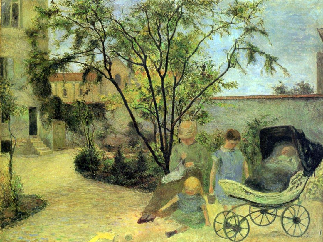Garden in Rue Carcel - Gauguin