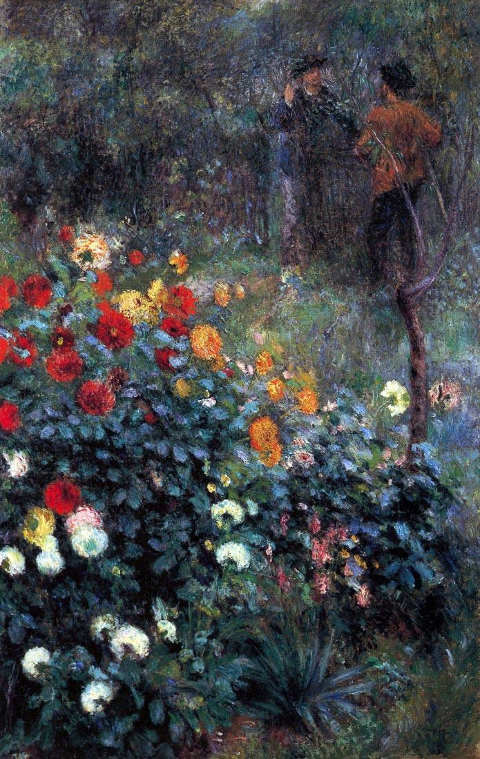 Garden in the street Cortot, Montmartre - Renoir