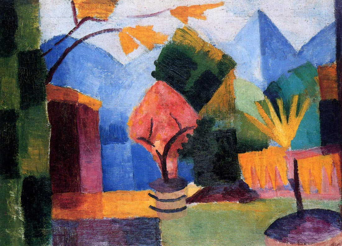 Garden on the lake of Thun - August Macke