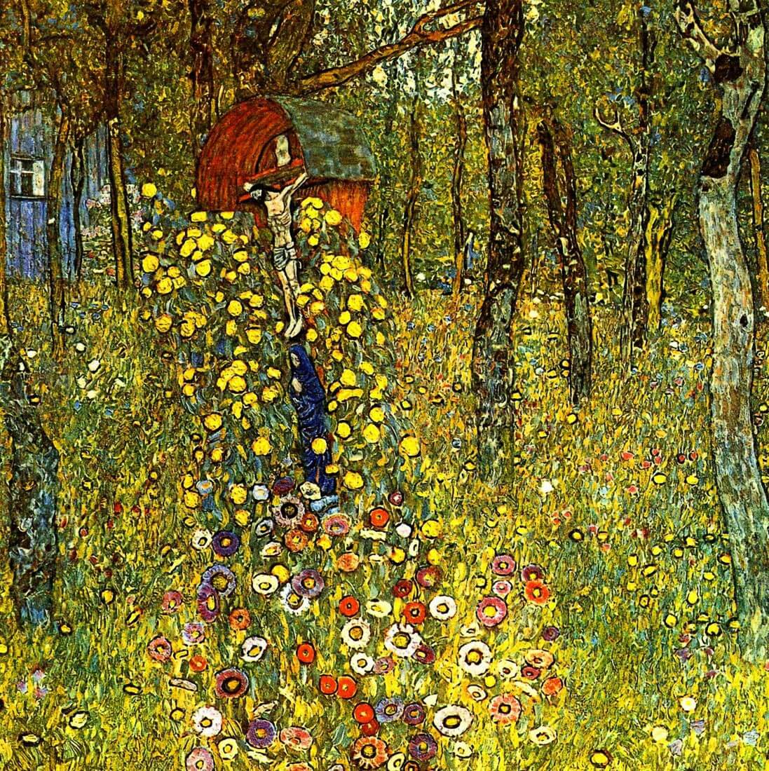 Garden with crucifix - Klimt