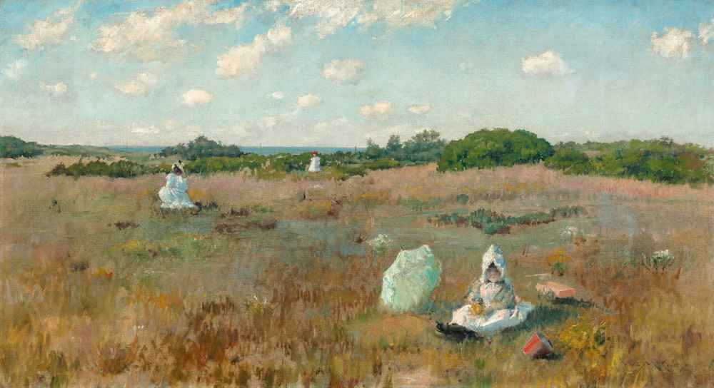 Gathering Autumn Flowers - William Merritt Chase
