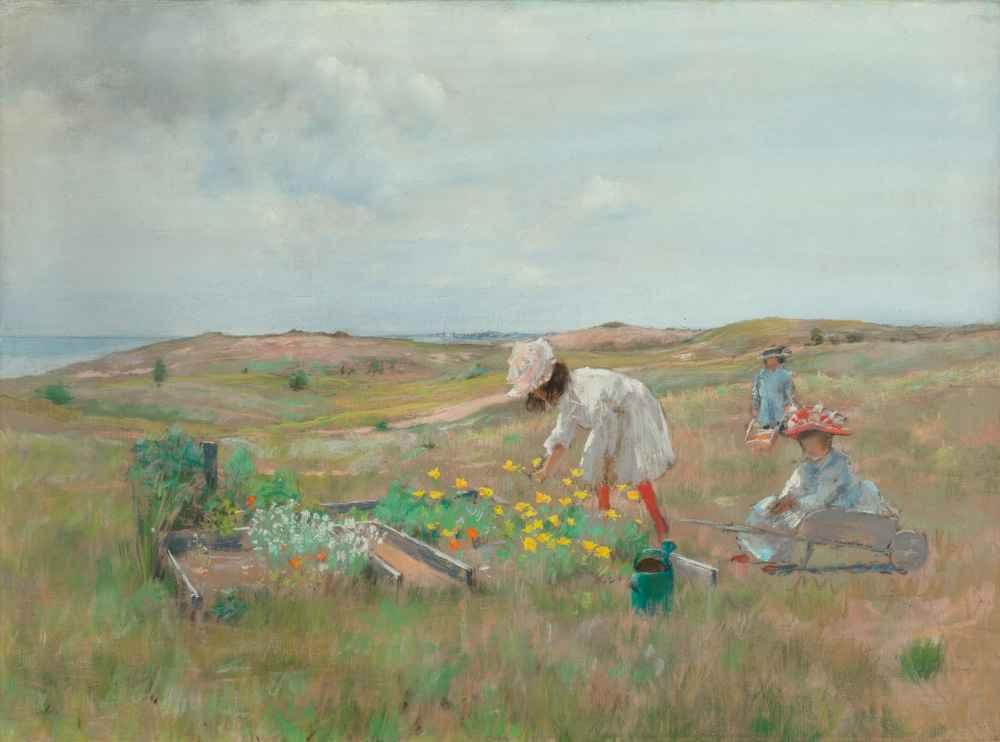 Gathering Flowers, Shinnecock, Long Island, c. 1897 - William Merritt