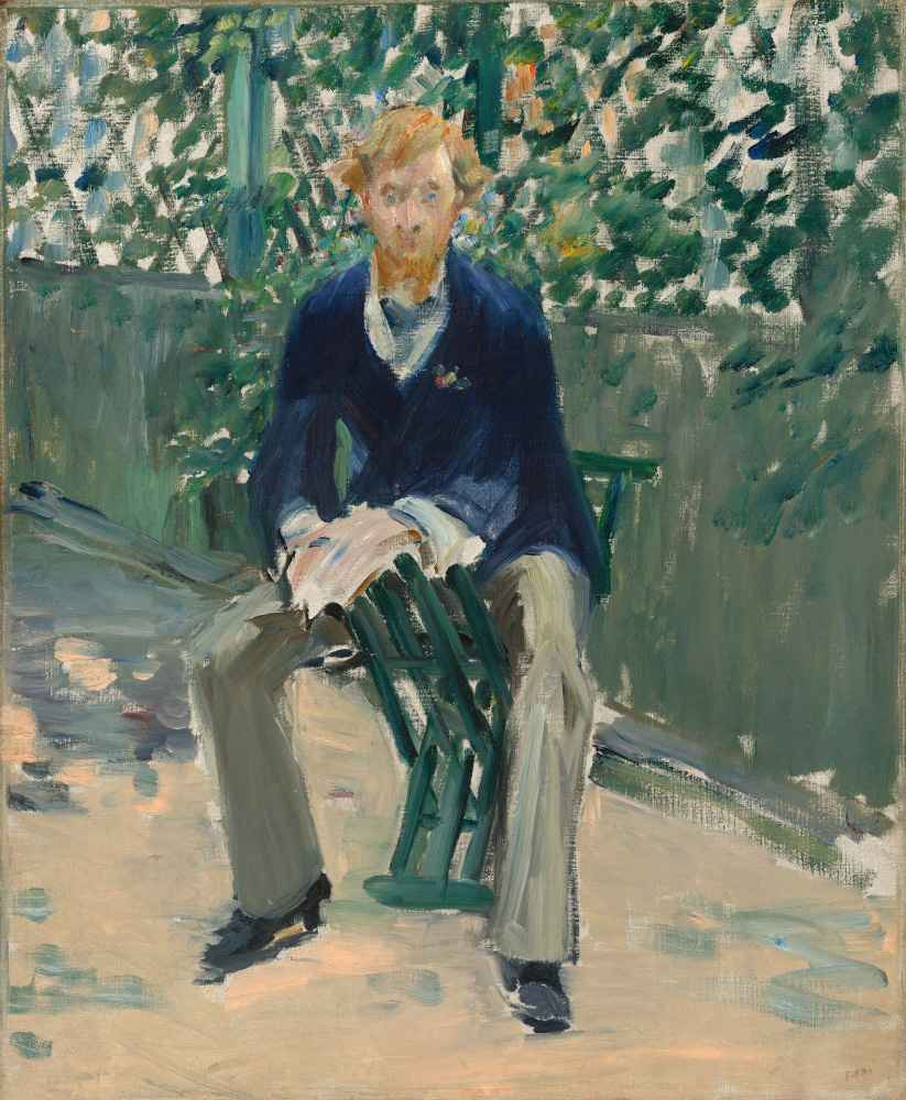 George Moore in the Artists Garden - Edouard Manet
