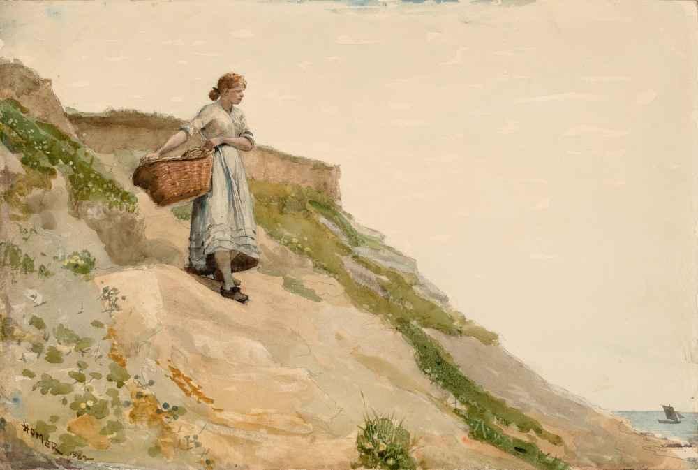 Girl Carrying a Basket - Winslow Homer